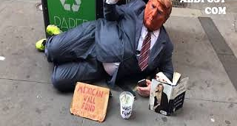 Fake Donald Trump say: Mexican wall fund Wall street www.abdpost.com