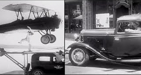 Ford Cars New Model & Plane Stunt Promo - 1930s